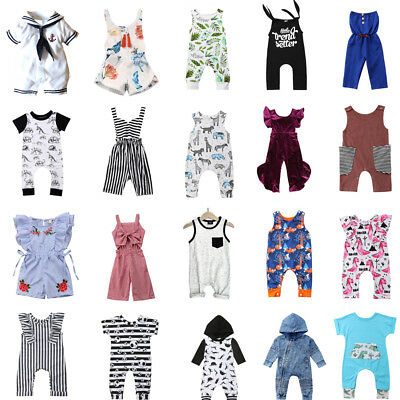 US STOCK Toddler Baby Girl Boy Dinosaur Romper Jumpsuit Bodysuit Outfits Clothes
