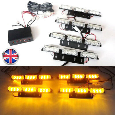 36 LED Amber Strobe Flashing Emergency Recovery Grille 12V Car light RLTS