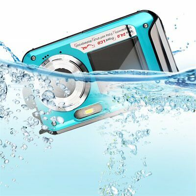 Digital Camera Waterproof 24MP MAX 1080P Double Screen16x Zoom Camcorder NEW