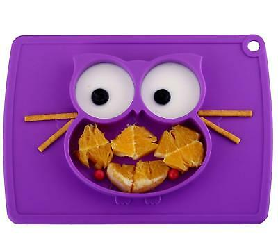 Toddler Plate, Baby Plate for Babies Toddlers and Kids, Portable BPA-Free 10ML