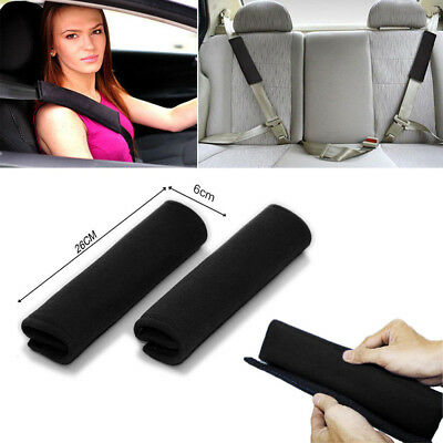 2x Soft Car Seat Belt Pads Harness Safety Shoulder Strap Cushion Covers kids