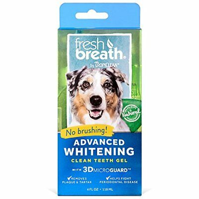 Tropiclean Fresh Breath Advanced Whitening Kit Clean Teeth Gel For Dog Cat
