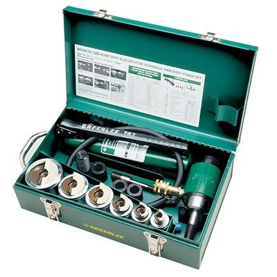 "Greenlee 7506 1/2""-2"" Conduit Size Slug-Splitter Punch Kit: Hydraulic Ram & Pump"