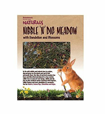 Rosewood Naturals Nibble 'n' Dig Meadow Rabbit / Small Animal Treat