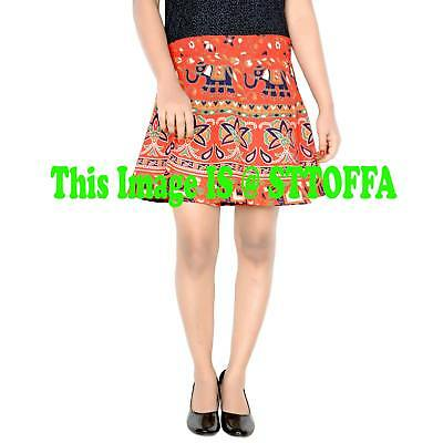 Cotton Indian Women Short Skirt Hippie Ombre Mandala Print Skirt Waist Skirt