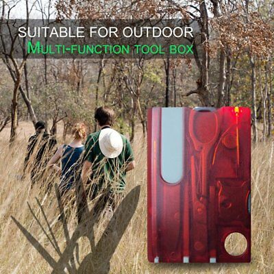 Outdoor Survival Stainles Steel Multi Tools Set Credit Card Size Kit Tool EC