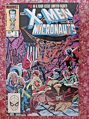 Marvel Comic.  X-Men And The Micronauts. No.3 March 1984.