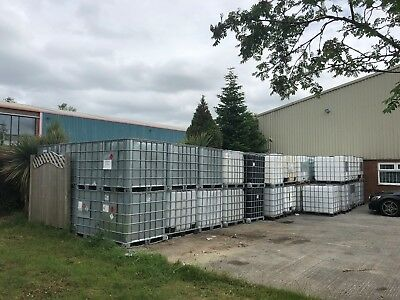 1000 litre Used IBC storage tanks in cages - Require Cleaning