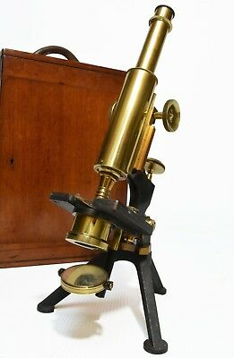 Antique compound microscope, 'Fram' by Watson & Sons of London, circa 1907