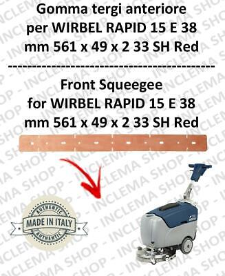 RAPID 15 E 38 Squeegee rubber front for scrubber dryers  WIRBEL