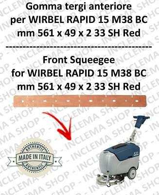 RAPID 15 M 38 BC Squeegee rubber front for scrubber dryers  WIRBEL