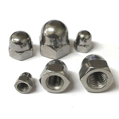 M3 M4 M5 M6 Hex Dome Nuts A4 Stainless Marine Grade Domed Nut