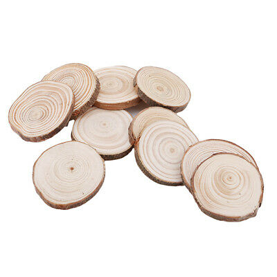 1pcs Round Wooden Pieces Circles with Tree Bark Wood Log Slices DIY Craft 6A
