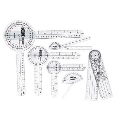6Pcs 360° 12/8/6 Inch Medical Spinal Ruler Goniometer Angle Protractor Angle Rul