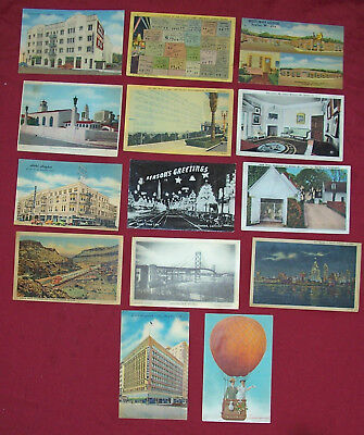 Lot of 14 1950s Postcards Hollywood Old Vintage Stamped Used Postcard Collection