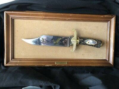 The American Eagle Bowie Fixed Blade Mounted Display from Franklin Mint   132