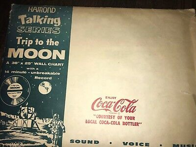 1969 Coca Cola Trip To The Moon Recond Poster School Kit