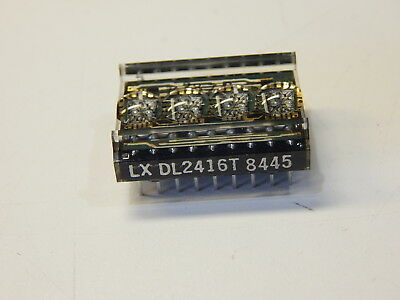 DL2416T DL2416 Smart Segmented Alphanumeric Led Display, 4-character, Red, Dip