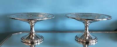 Pair of Gorham Sterling Silver Tazzas / Compotes c.1920's