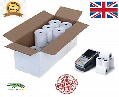 20 Rolls Thermal Paper Credit Card Machine Till Rolls 57x40mm Worldpay Ingenico