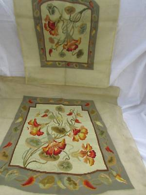Stunning Fine Hand Stitched Floral Tapestry Antique Chair Covers Abusson Style