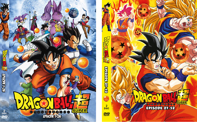 dragon ball super parts 1 2 3 and 4 episodes 1 52 dvd new free