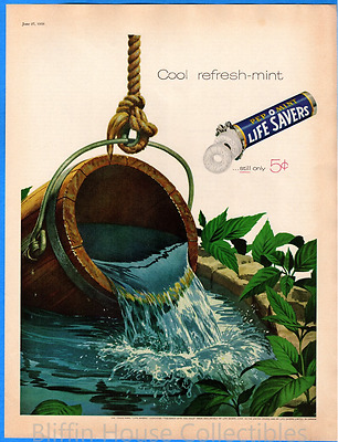 "Vintage 1959 Life Savers PEP-O-MINT ""Still Only 5 Cents"" Original Print Ad"