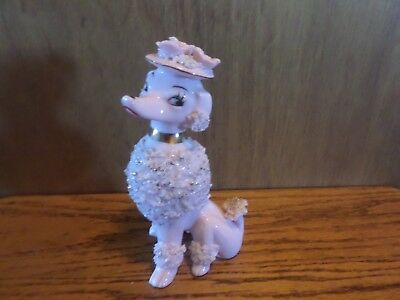Vintage Pink Spaghetti Poodle Made In Japan 7""