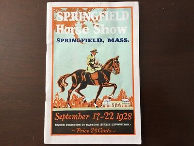 1928 Springfield Horse Show, Springfield Massachusetts Booklet Eastern States ex