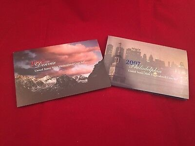 2007 United States Mint Uncirculated Coin Set P & D mint