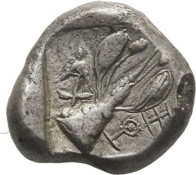 Lanz Cyprus Uncertain Stater Ram Laurel Plant Fruit Silver Rare Greek §ner2000