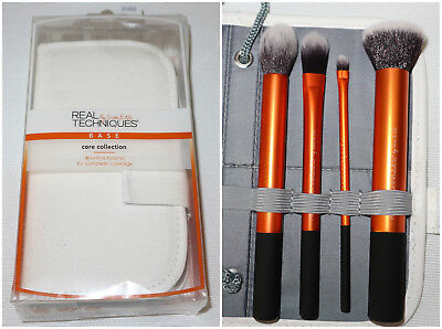 Set Kit Pennelli Trucco MakeUp Brushes REAL TECHNIQUES CORE COLLECTION NUOVO