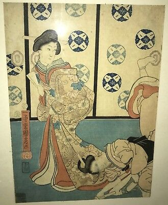 Kuniyoshi Japanese Woodblock Original Print 1856