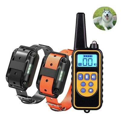 Dog Shock Training Collar Electronic Remote Control Waterproof 875 Yards -2 Dogs