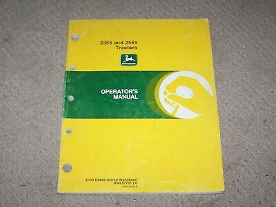 John Deere 2355 & 2555 Tractor Operators Manual B7
