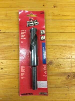 "13/16""  VERMONT AMERICAN 1/2""  High Speed Steel Drill Bit - Wood, Metal, PVC new"