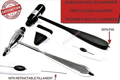 Set Of 3 Reflex Hammer Set |  Tromner, Babinski Buck,  Percussion Taylor New