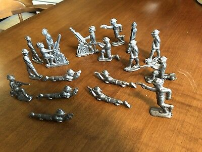 WW1 Dimestore Cast Metal soldiers
