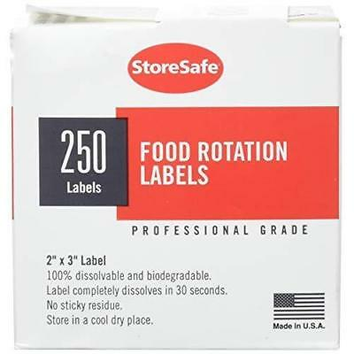 "Cambro 23SLINB250 Food Rotation Blank Labels Dissolvable Adhesive 2"" x 3"""
