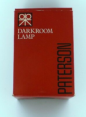 TESTED and WORKING! Paterson Darkroom Lamp in Orange! FREE SHIPPING!