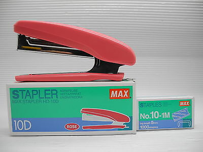 Pink MAX STAPLER HD-10D free 2 boxes staples