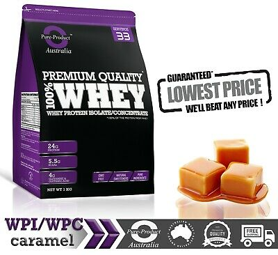 1Kg  - Whey Protein Isolate / Concentrate - Caramel -  Wpi Wpc