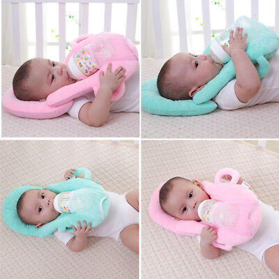Baby Nursing Feeding Pillow Cushion with Bottle Holder Hand Free Neck Pillow ww