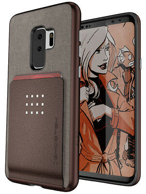 For Galaxy S9 Plus Case Ghostek EXEC2 Card Wallet Built-In Magnet Protective