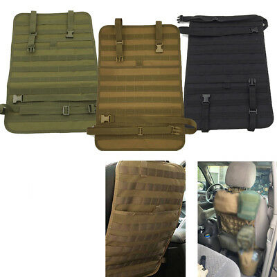 Car Seat Back Organizer Tactical MOLLE Panel Vehicle Seat Cover Protector