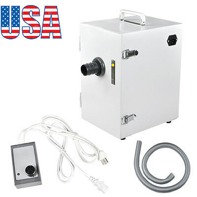 USA  Dental Lab Digital Single-Row Dust Collector Vacuum Cleaner 370W Laboratory