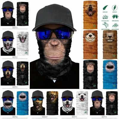 3D Animal Ski Cycling Scarf Neck Warmer Face Mask Balaclava Bandana 2018