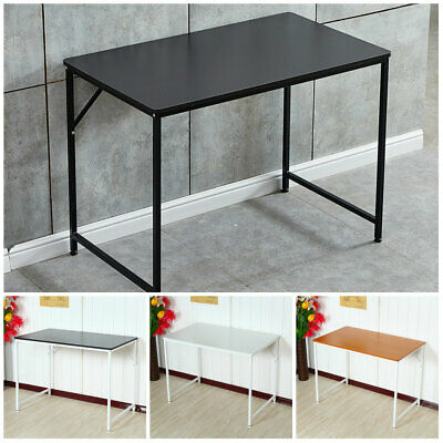 Computer &Laptop Table Wood Top Study Office Home Black/White