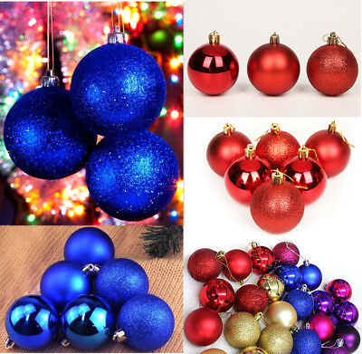 24PC 40mm Christmas Xmas Tree Ball Bauble Hanging Home Party Ornament Decoration