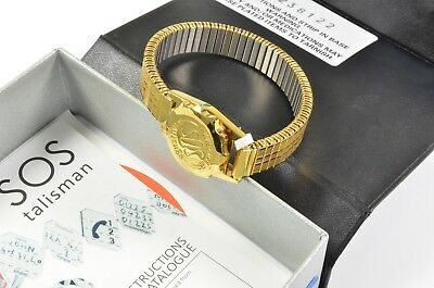 SOS Talisman Medic Alert bracelet ladies gold plated stainless steel  RRP £68
